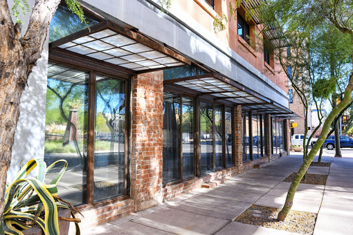 Commercial real estate office retail space available for lease downtown Tucson Peach Properties